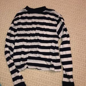 Tops - Long Sleeve Navy and White Striped